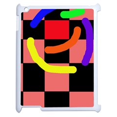 Multicolor abstraction Apple iPad 2 Case (White)
