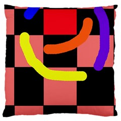 Multicolor Abstraction Large Cushion Case (two Sides)