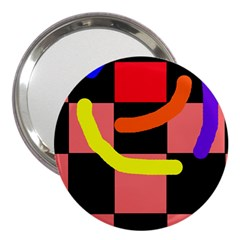 Multicolor abstraction 3  Handbag Mirrors
