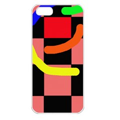 Multicolor abstraction Apple iPhone 5 Seamless Case (White)