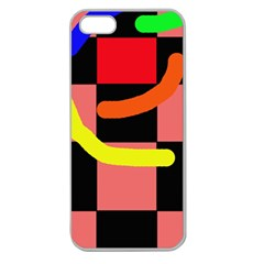 Multicolor abstraction Apple Seamless iPhone 5 Case (Clear)
