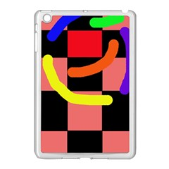 Multicolor abstraction Apple iPad Mini Case (White)