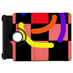Multicolor abstraction Kindle Fire HD Flip 360 Case