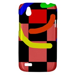 Multicolor abstraction HTC Desire V (T328W) Hardshell Case
