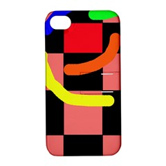 Multicolor abstraction Apple iPhone 4/4S Hardshell Case with Stand