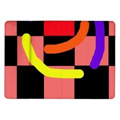 Multicolor abstraction Samsung Galaxy Tab 10.1  P7500 Flip Case
