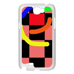 Multicolor abstraction Samsung Galaxy Note 2 Case (White)