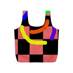 Multicolor abstraction Full Print Recycle Bags (S)