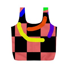Multicolor abstraction Full Print Recycle Bags (M)