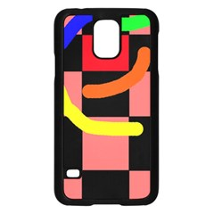 Multicolor abstraction Samsung Galaxy S5 Case (Black)