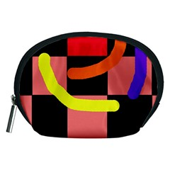 Multicolor abstraction Accessory Pouches (Medium)