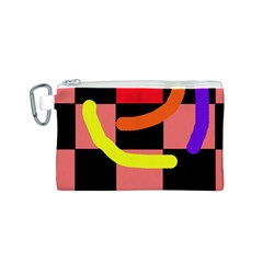 Multicolor abstraction Canvas Cosmetic Bag (S)