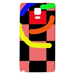 Multicolor abstraction Galaxy Note 4 Back Case