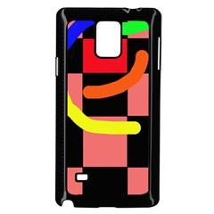 Multicolor abstraction Samsung Galaxy Note 4 Case (Black)