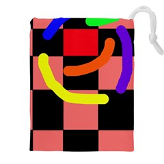 Multicolor abstraction Drawstring Pouches (XXL)