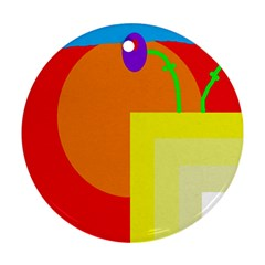 Colorful abstraction Ornament (Round)