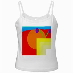 Colorful abstraction White Spaghetti Tank