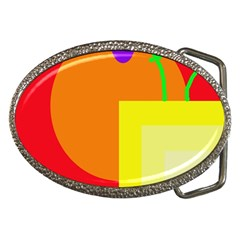 Colorful abstraction Belt Buckles