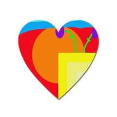 Colorful abstraction Heart Magnet