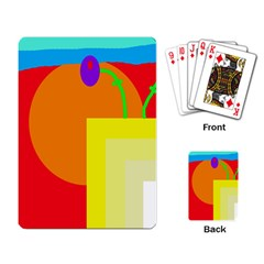 Colorful abstraction Playing Card