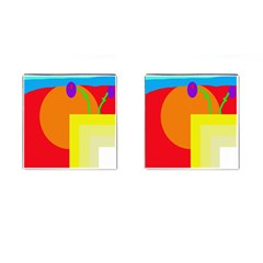Colorful abstraction Cufflinks (Square)
