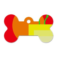 Colorful abstraction Dog Tag Bone (One Side)