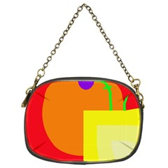 Colorful abstraction Chain Purses (Two Sides)