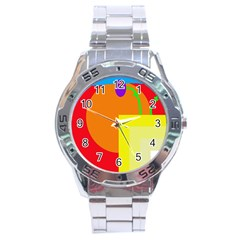 Colorful abstraction Stainless Steel Analogue Watch