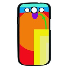 Colorful abstraction Samsung Galaxy S III Case (Black)