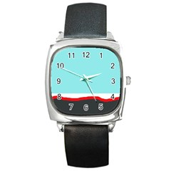 Simple decorative design Square Metal Watch