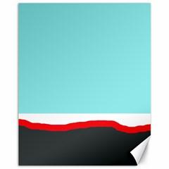 Simple decorative design Canvas 11  x 14