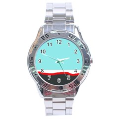 Simple decorative design Stainless Steel Analogue Watch