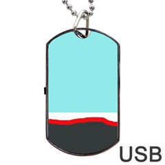 Simple decorative design Dog Tag USB Flash (Two Sides)