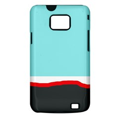 Simple decorative design Samsung Galaxy S II i9100 Hardshell Case (PC+Silicone)