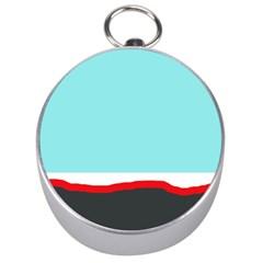 Simple decorative design Silver Compasses