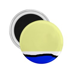Yellow and blue simple design 2.25  Magnets