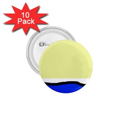 Yellow and blue simple design 1.75  Buttons (10 pack)