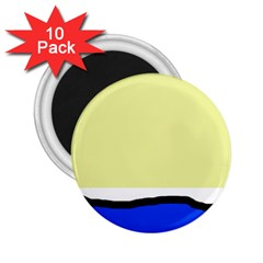 Yellow and blue simple design 2.25  Magnets (10 pack)