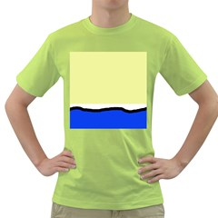 Yellow and blue simple design Green T-Shirt