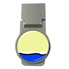 Yellow and blue simple design Money Clips (Round)