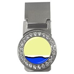 Yellow and blue simple design Money Clips (CZ)