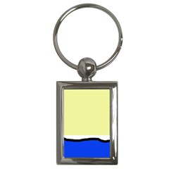 Yellow and blue simple design Key Chains (Rectangle)