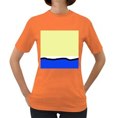 Yellow and blue simple design Women s Dark T-Shirt