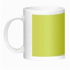Yellow and blue simple design Night Luminous Mugs