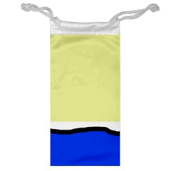 Yellow and blue simple design Jewelry Bags