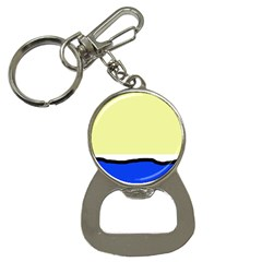 Yellow and blue simple design Bottle Opener Key Chains