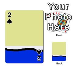 Yellow and blue simple design Playing Cards 54 Designs