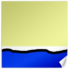 Yellow and blue simple design Canvas 20  x 20