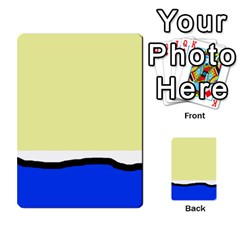 Yellow and blue simple design Multi-purpose Cards (Rectangle)