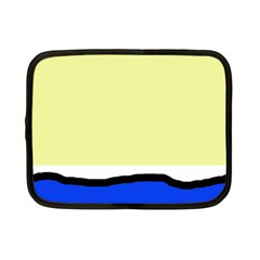 Yellow and blue simple design Netbook Case (Small)